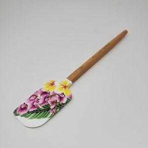 NWOT William - Sonoma floral wood handle spatula